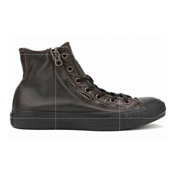 9079303783b5 Converse chuck taylor double zip leather shoe
